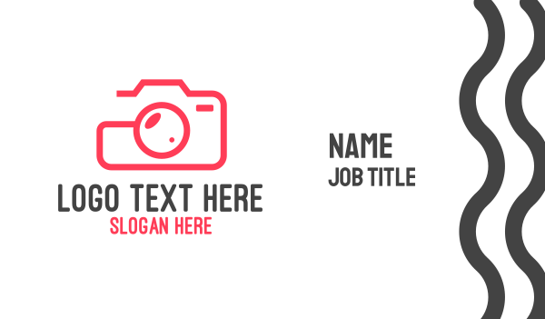 photo journalist - Camera Photography Outline Business card horizontal design