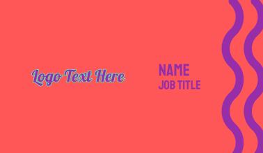 Retro Pop Wordmark Business Card