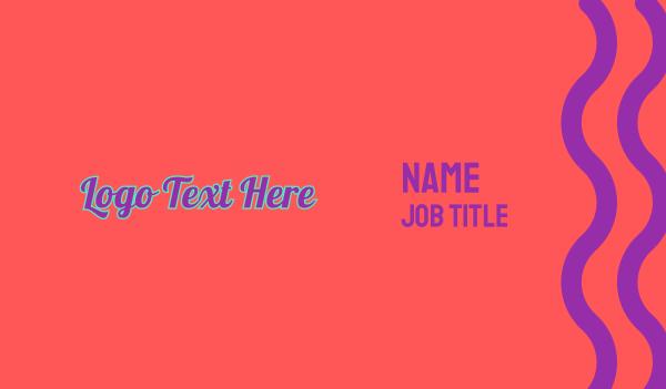 pop - Retro Pop Wordmark Business card horizontal design