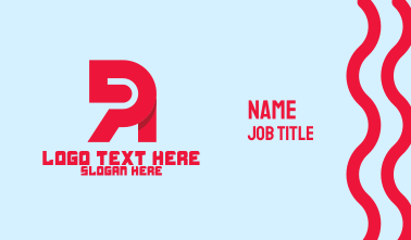 Red Tech Letter R Business Card