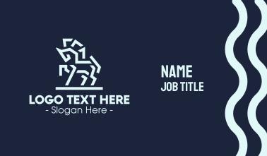 Modern Geometric Horse Business Card