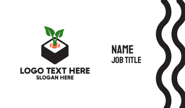 Sushi Plant Business Card