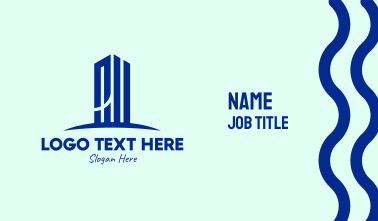 Simple Tall Building  Business Card