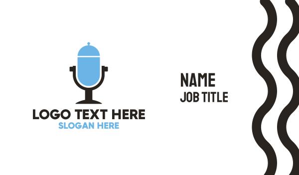 talk show - Food Radio Microphone Business card horizontal design