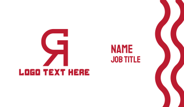 Red Abstract GR Business Card