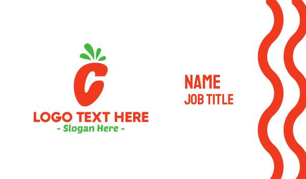 carrot - Carrot Letter C Business card horizontal design