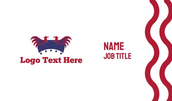 american - Patriotic Birds Business card horizontal design