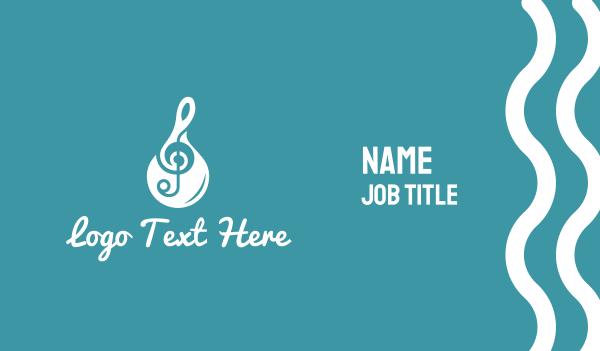 treble clef - Music Band Business card horizontal design