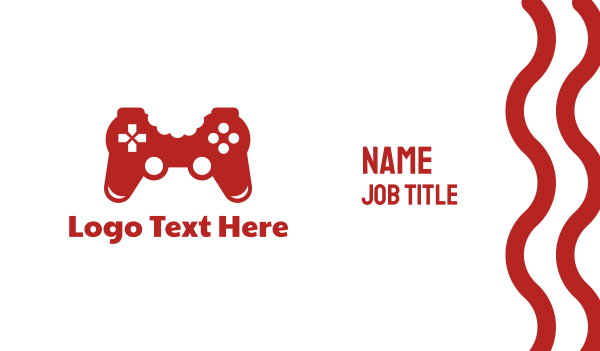 bite - Game Controller Bite Business card horizontal design