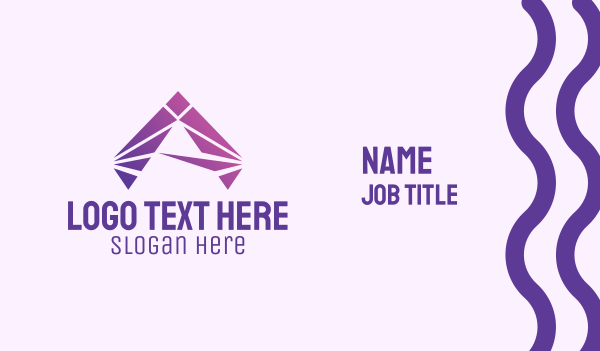 computer science - Modern Purple Letter A Business card horizontal design