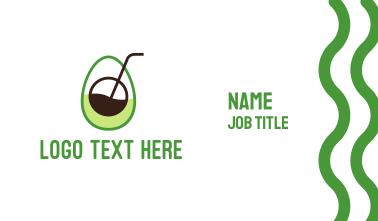 Avocado Juice Business Card