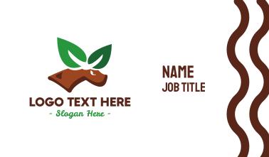 Eco Leaf Elk Business Card