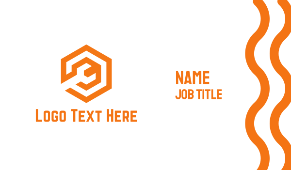 spanner - Orange Mechanical Wrench Business card horizontal design