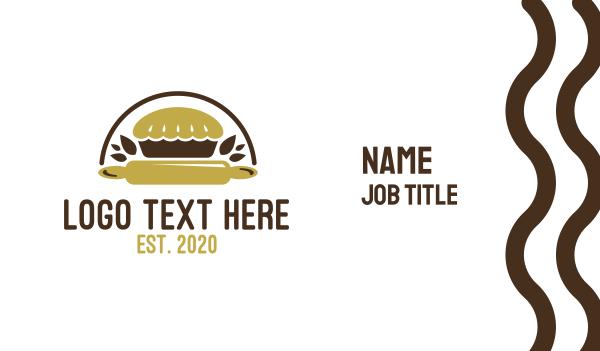 pie - Nature Pie Bakery Business card horizontal design