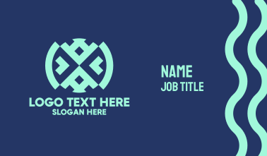 Native Blue Textile Business Card