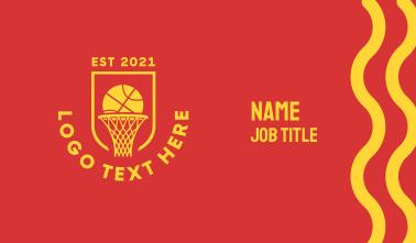 Basketball Hoop Ring Business Card