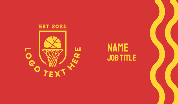 sports channel - Basketball Hoop Ring Business card horizontal design