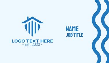 Home Security Shield Emblem Business Card