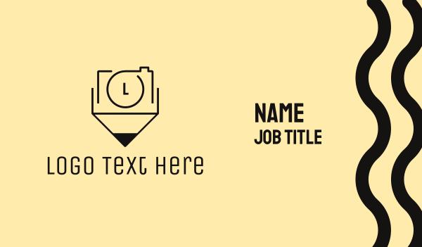 photojournalism - Camera Pencil  Business card horizontal design