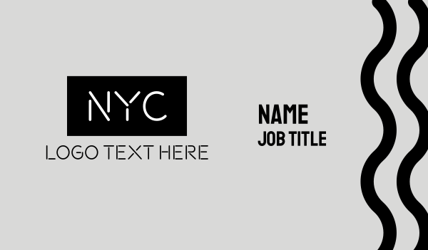 initials - NYC Business card horizontal design