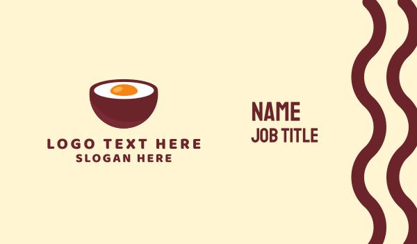 bowl - Egg Bowl Business card horizontal design