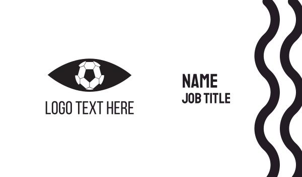 soccer - Soccer Eye Ball Business card horizontal design