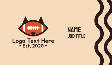 Fox Football Mascot Business Card