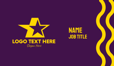 Yellow Celebrity Star Business Card