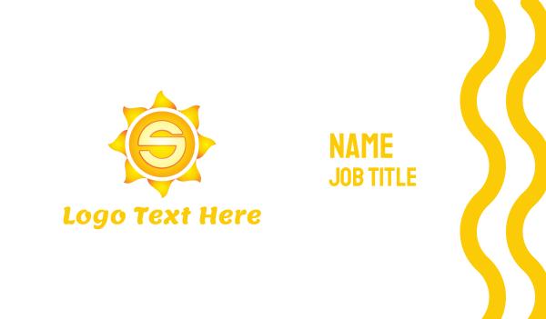sunflower - Sun Letter S Business card horizontal design
