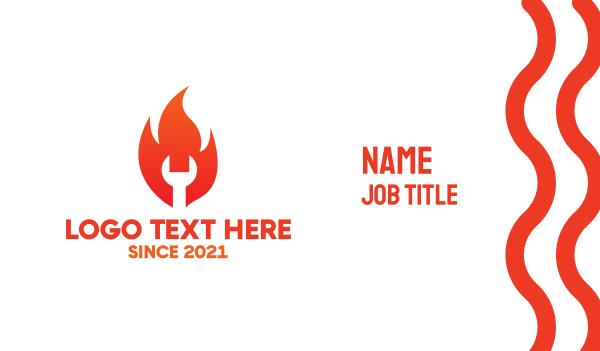 spanner - Fire Maintenance & Repair Business card horizontal design