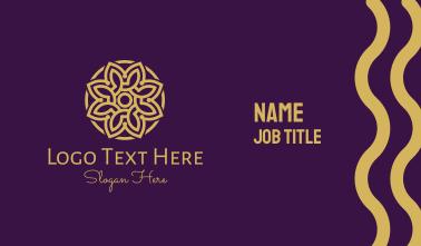 Decorative Mandala Flower Business Card