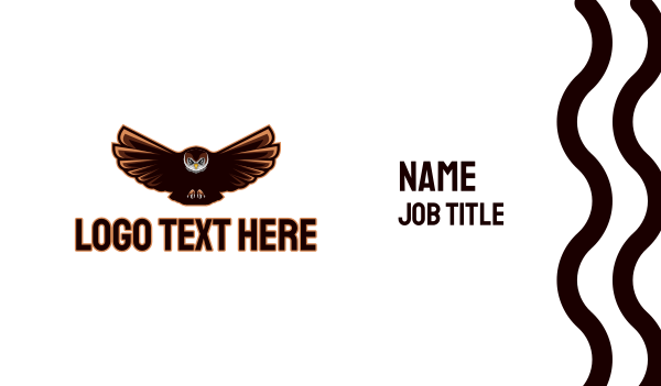 fly - Night Owl Gaming Business card horizontal design