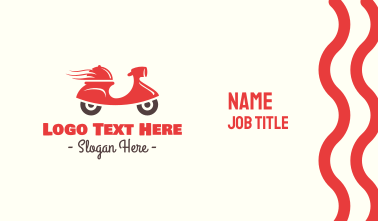 Hot Food Delivery Business Card