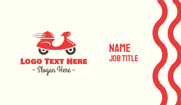 takeaway - Hot Food Delivery Business card horizontal design
