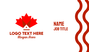 Canadian Maple Leaf Home Business Card