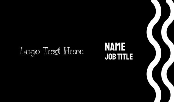 learn - Handwritten Font Business card horizontal design