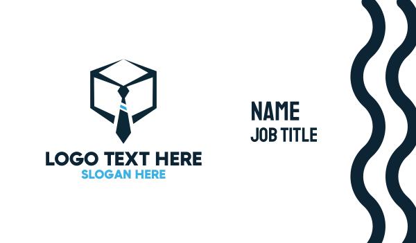 recruiter - Tie Box Business card horizontal design
