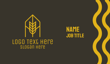 Orange Wheat Arch Business Card