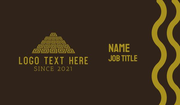 maya - Mayan Pyramid Business card horizontal design