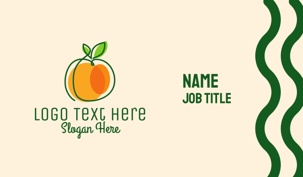 citric - Minimalist Orange Fruit Business card horizontal design