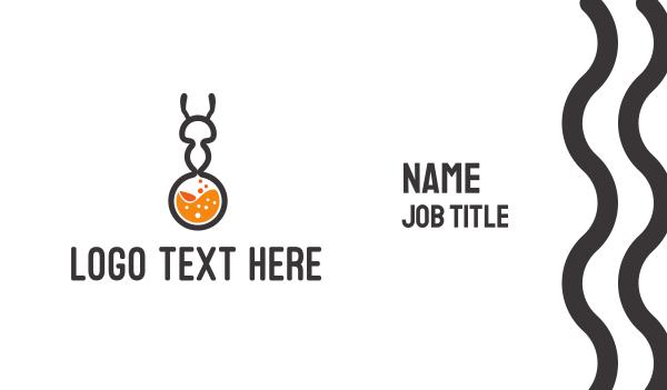 chemistry - Ant Test Tube Business card horizontal design