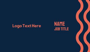 Modern Sans Serif Business Card