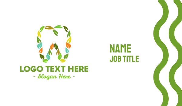 oral - Eco Leaf Dentistry Business card horizontal design