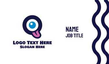 Letter O Monster  Business Card