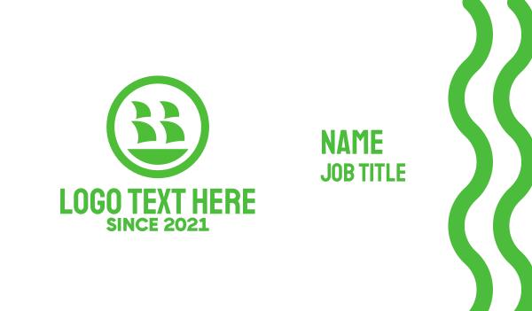 green circle - Green Ship Business card horizontal design