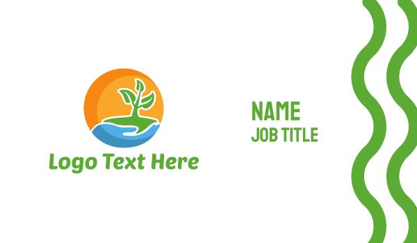 stem - Little Plant Business card horizontal design