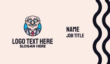Old Bald Man Business Card