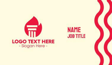 Red Fire Pillar Business Card