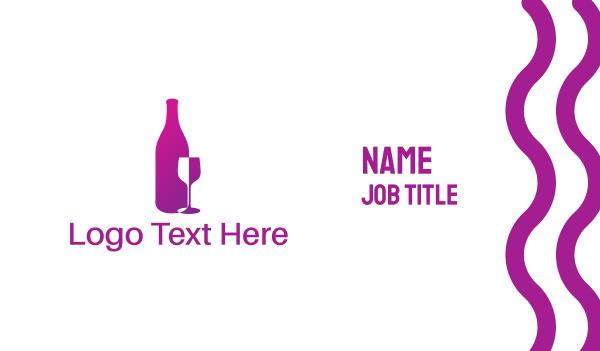 event management - Wine Bottle Business card horizontal design