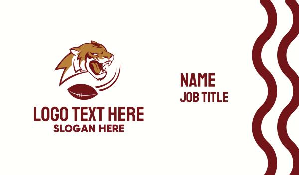 Gridiron Football Tiger Business Card
